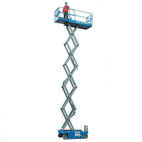 Electric Scissor 26 ft - Genie - Electric - Work Height: 32 ft (9.8 m); Platform Capacity: 1,000 lbs (454 kg); Weight: 4,312 lbs (1,956 kg)