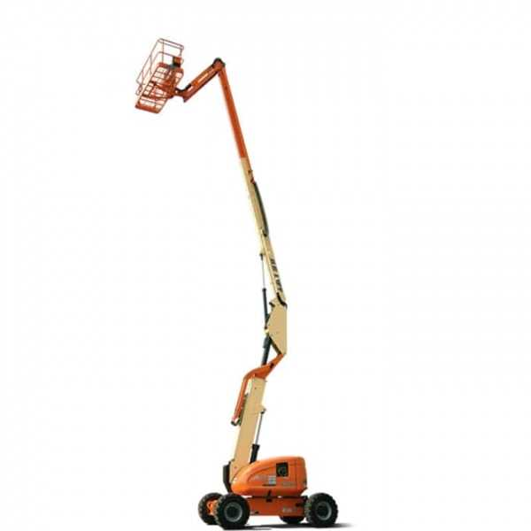 Diesel Articulating 60 ft - JLG - Diesel - Work Height: 66 ft (20.1 m); Horizontal Outreach: 39 ft 9 in (12.12 m); Platform Capacity: 500 lb (227 kg); Weight: 22,740 lb (10,315 kg)