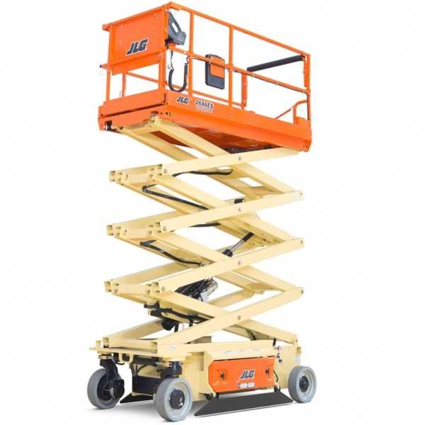 Electric Scissor Lift 2646ES - JLG - Electric - Platform Height: 26 ft/7.92 m; Machine Width: 3 ft 10 in./1.17 m