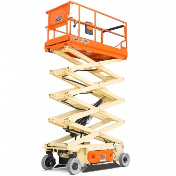 Electric Scissor 3246ES - JLG - Electric - Platform Height: 31 ft 9 in./9.68 m; Machine Width: 3 ft 10 in./1.17 m