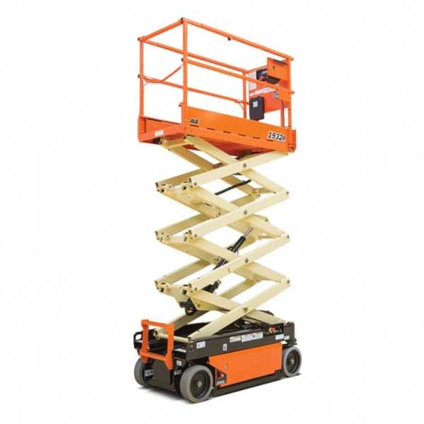 Electric Scissor Lift 1932R - JLG - Electric - Platform Height: 19 ft/5.79 m; Machine Width: 2 ft 8 in./0.81 m; Working Height: 25 ft/7.62 m