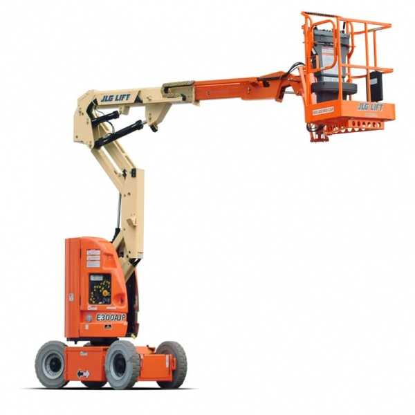 Electric Boom Lift E300AJP - JLG - Electric - Platform Height: 29 ft 5 in./8.97 m; Machine Width: 4 ft/1.22 m; Platform Capacity - Unrestricted: 500 lb/226.80 kg