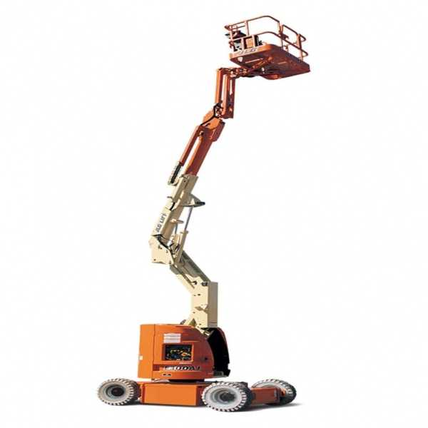 Electric Boom Lift E300AJ - JLG - Electric - Platform Height: 30 ft 2 in./9.19 m; Machine Width: 4 ft/1.22 m; Platform Capacity - Unrestricted: 500 lb/226.80 kg
