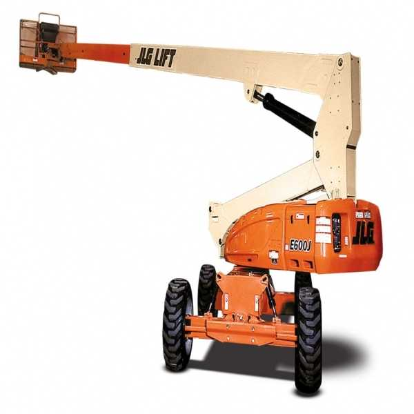 Electric Boom Lift E600J - JLG - Electric - Platform Height: 60 ft 3 in./18.36 m; Platform Capacity: 500 lb/226.80 kg; Machine Width: 7 ft 11 in./2.41 m