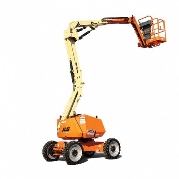 Articulating Boom Lift 340AJ - JLG - Diesel - Platform Height: 33 ft 10 in./10.31 m; Platform Capacity - Unrestricted: 500 lb/226.80 kg; Horizontal Outreach: 19 ft 11 in./6.07 m