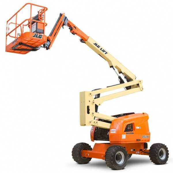 Articulating Boom Lift 450AJ - JLG - Diesel - Platform Height: 45 ft/13.72 m; Platform Capacity - Unrestricted: 550 lb/249.48 kg; Horizontal Outreach: 25 ft/7.62 m
