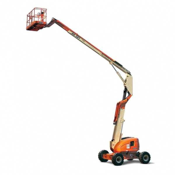 Articulating Boom Lift 600A - JLG - Diesel - Platform Height: 60 ft 5 in./18.42 m; Platform Capacity - Restricted: 1000 lb/453.59 kg; Platform Capacity - Unrestricted: 500 lb/226.80 kg; Horizontal Outreach: 39 ft 7 in./12.07 m