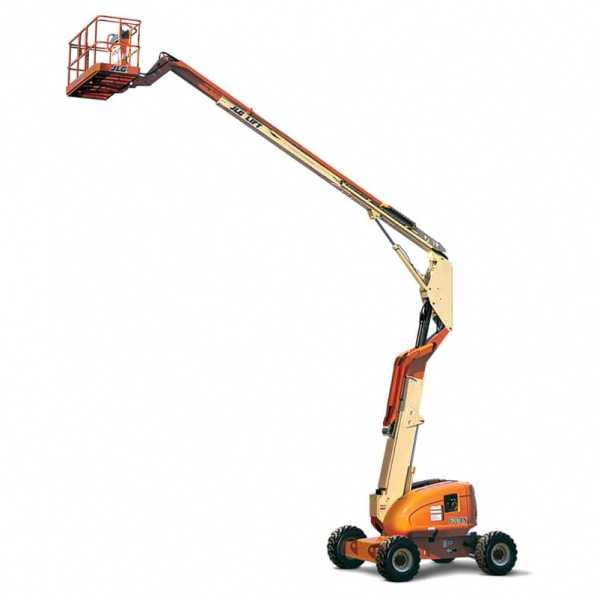 Articulating Boom Lift 600AN Narrow - JLG - Diesel - Platform Height: 60 ft 5 in./18.42 m; Platform Capacity - Restricted: 1000 lb/453.59 kg; Platform Capacity - Unrestricted: 500 lb/226.80 kg; Horizontal Outreach: 39 ft 7 in./12.07 m