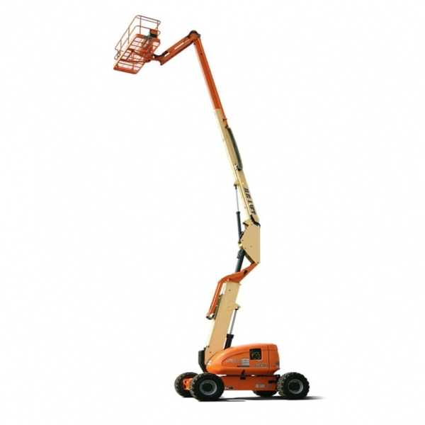 Articulating Boom Lift 600AJ - JLG - Diesel - Platform Height: 60 ft 7 in./18.47 m; Platform Capacity - Unrestricted: 500 lb/226.80 kg; Horizontal Outreach: 39 ft 9 in./12.12 m