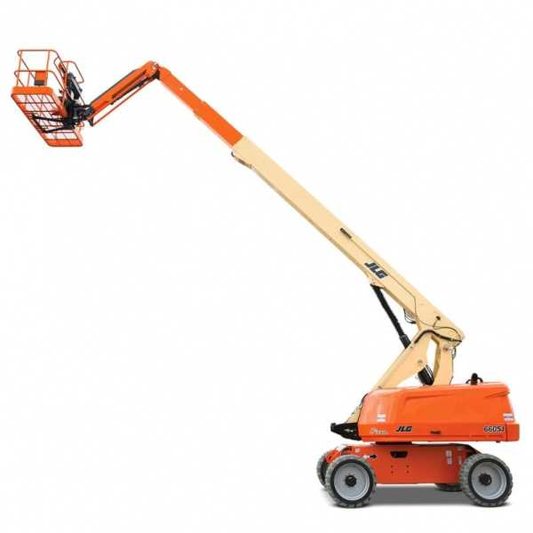 Telescopic Boom Lift 660SJ - JLG - Gas - Platform Height: 65 ft 8 in./20.02 m; Platform Capacity - Restricted: 750 lb/340.19 kg; Platform Capacity - Unrestricted: 550 lb/249.48 kg; Horizontal Outreach: 57 ft 1 in./17.4 m
