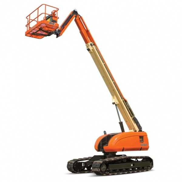 Telescopic Crawler Boom Lift 660SJC - JLG - Gas - Platform Height: 65 ft 7 in./19.99 m; Platform Capacity - Restricted: 750 lb/340.19 kg; Platform Capacity - Unrestricted: 550 lb/249.48 kg; Horizontal Outreach: 57 ft 1 in./17.39 m