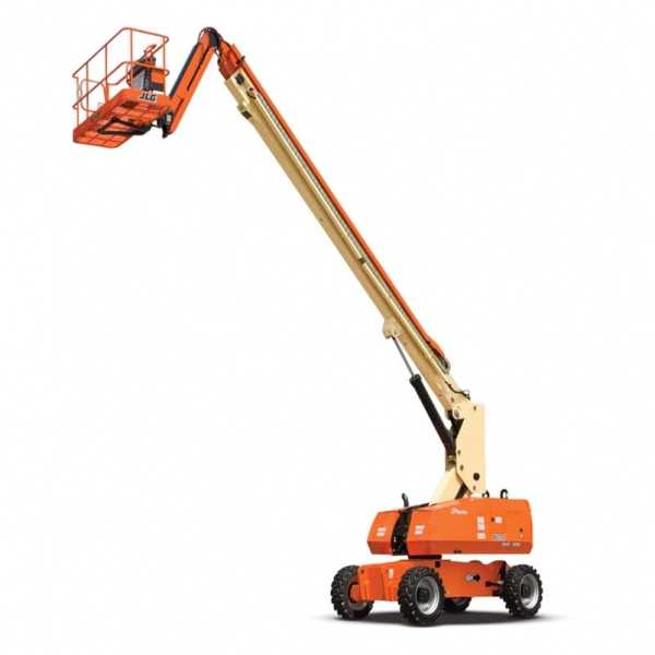 Telescopic Boom Lift 860SJ - JLG - Gas - Platform Height: 86 ft/26.21 m; Platform Capacity - Restricted: 750 lb/340.19 kg; Platform Capacity - Unrestricted: 500 lb/226.80 kg; Horizontal Outreach: 75 ft/22.86 m