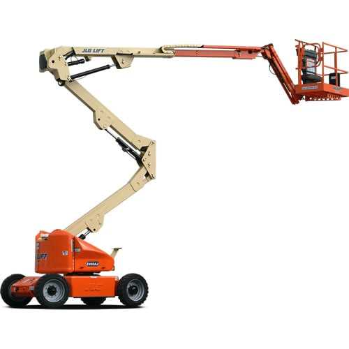 Electric Articulating 45 ft - JLG - Electric - Work Height: 51 ft (15.5 m); Horizontal Outreach: 23 ft 9 in (7.24 m); Platform Capacity: 500 lb (227 kg); Weight: 14,400 lb (6,532 kg)